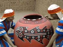 Figure indigene a Lima, Perù Immagini Stock Libere da Diritti