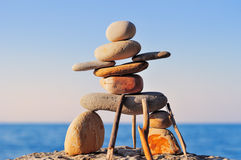 Figure of inukshuk Royalty Free Stock Photography