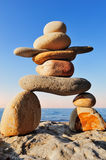 Figure of Inukshuk Royalty Free Stock Photo