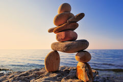 Figure of inukshuk Stock Photography