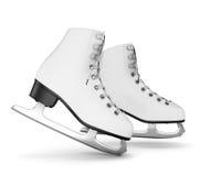 Figure isolat de patins sur le blanc Photos stock