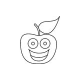 Figure kawaii fruit apple happy icon. Illustration design Stock Photo