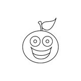 Figure kawaii fruit orange happy icon Stock Photos