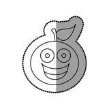 Figure kawaii fruit orange happy icon Stock Photo