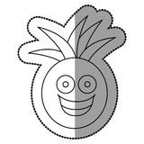 Figure kawaii fruit pineapple happy icon. Illustration design Stock Photography