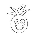 Figure kawaii fruit pineapple happy icon Stock Images
