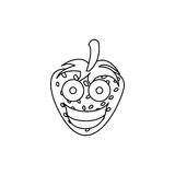 Figure kawaii fruits strawberry happy icon. Illustration design Stock Photo
