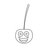 Figure kawaii happy cherry icon. Illustraction design Royalty Free Stock Image