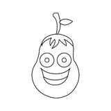 Figure kawaii happy eggplant icon. Illustraction design Royalty Free Stock Photos
