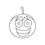 Figure kawaii happy tomato icon. Illustraction design Stock Photography