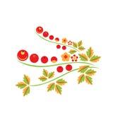 Figure Khokhloma. Vector illustration flowers design Royalty Free Stock Photos