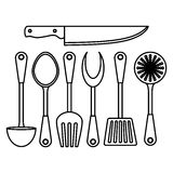 Figure kitchen tools icon image Royalty Free Stock Image