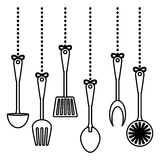 Figure kitchen utensils icon image Stock Images