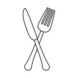 Figure knife and fork icon design Stock Photo