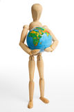 Figure, la terre, une photo stock