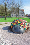 Figure of a ladybird in the Street of Ventspils in Latvia Stock Photo