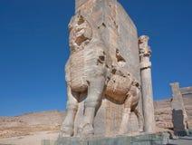Figure of Lamassu (bull-man), Assyrian protective deity Stock Photography