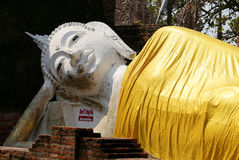 Figure large reclining Buddha Stock Images