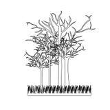 Figure leafless trees icon. Illustraction design image Stock Image