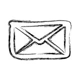 Figure letter message icon Royalty Free Stock Image