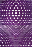 Figure of lines and dots in background purple Royalty Free Stock Photos