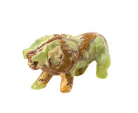 Figure of a lion carved from onyx Royalty Free Stock Photo