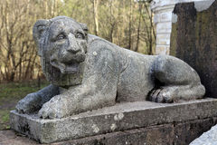 The figure of a lion on a pedestal. Royalty Free Stock Images