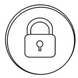Figure lock emblem icon Royalty Free Stock Image