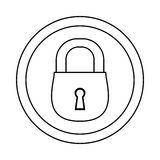 Figure lock icon image design. Illustration Stock Image