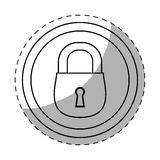 Figure lock icon image design. Illustration Stock Photo
