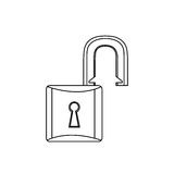 Figure lock open icon. Image,  illustration design Royalty Free Stock Photo