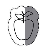 Figure long apple fruit icon Stock Images