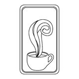 Figure long squard symbol of coffee cup. Illustraction design Royalty Free Stock Photo