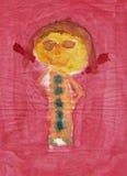 Figure look like child painting. Painting of the figure looks like child drawing Royalty Free Stock Image