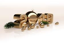 Figure lucide 3D dell'oro del nuovo anno royalty illustrazione gratis
