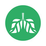 Figure lungs branches with leaves image. Illustration Royalty Free Stock Photo