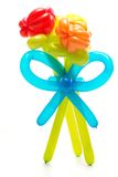 Figure made from colourful balloons Stock Photography