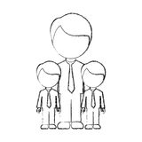 Figure man her boys twins icon Royalty Free Stock Photography
