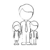 Figure man with his children icon. Illustraction design Stock Photos