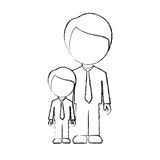 Figure man with his son icon Royalty Free Stock Photo