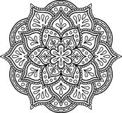 Figure mandala for coloring Royalty Free Stock Images