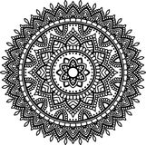 Figure mandala for coloring Stock Photography