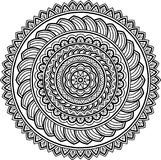 Figure mandala for coloring Royalty Free Stock Image