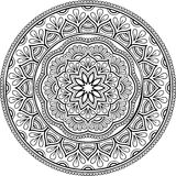 Figure mandala for coloring Royalty Free Stock Photography