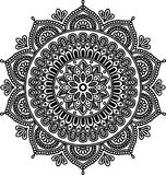 Figure mandala pour la coloration Photo stock