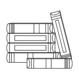 Figure many books together icon. Design,  illustration Royalty Free Stock Photo