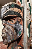 Figure of a Maori male face Royalty Free Stock Photography