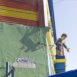 Figure of Maradona in La Boca, Buenos Aires Stock Photography