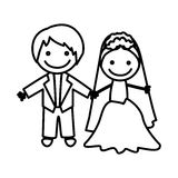 Figure married couple icon Royalty Free Stock Image