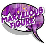 Figure merveilleuse - mots de style de bande dessinée illustration de vecteur